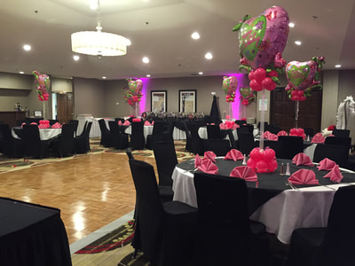 Marquis Ballroom decorated for a birthday